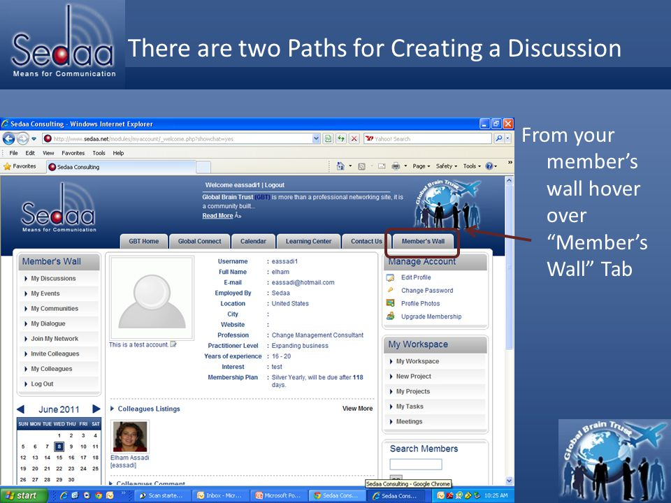 Click to edit Master title style 1- Initiate Discussion from Discussion Forum From the drop down list, select Discussi on Forum