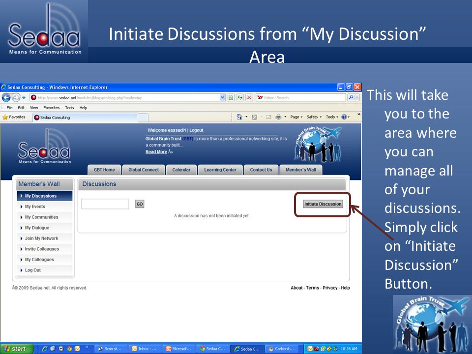 Click to edit Master title style Initiating Discussion You can start creating your discussion By simply start writing in the box below editor.