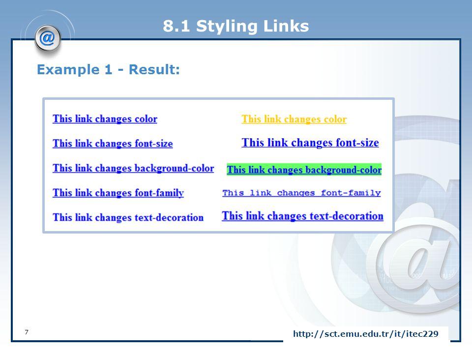 8.4 CSS Box Model 38 http://sct.emu.edu.tr/it/itec229 PropertyDescription paddingA shorthand property for setting all the padding properties in one declaration padding-bottomSets the bottom padding of an element padding-leftSets the left padding of an element padding-rightSets the right padding of an element padding-topSets the top padding of an element All CSS Padding Properties