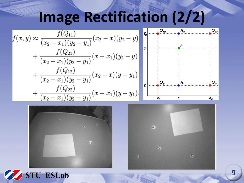 Image Rectification (2/2) STU ESLab 9