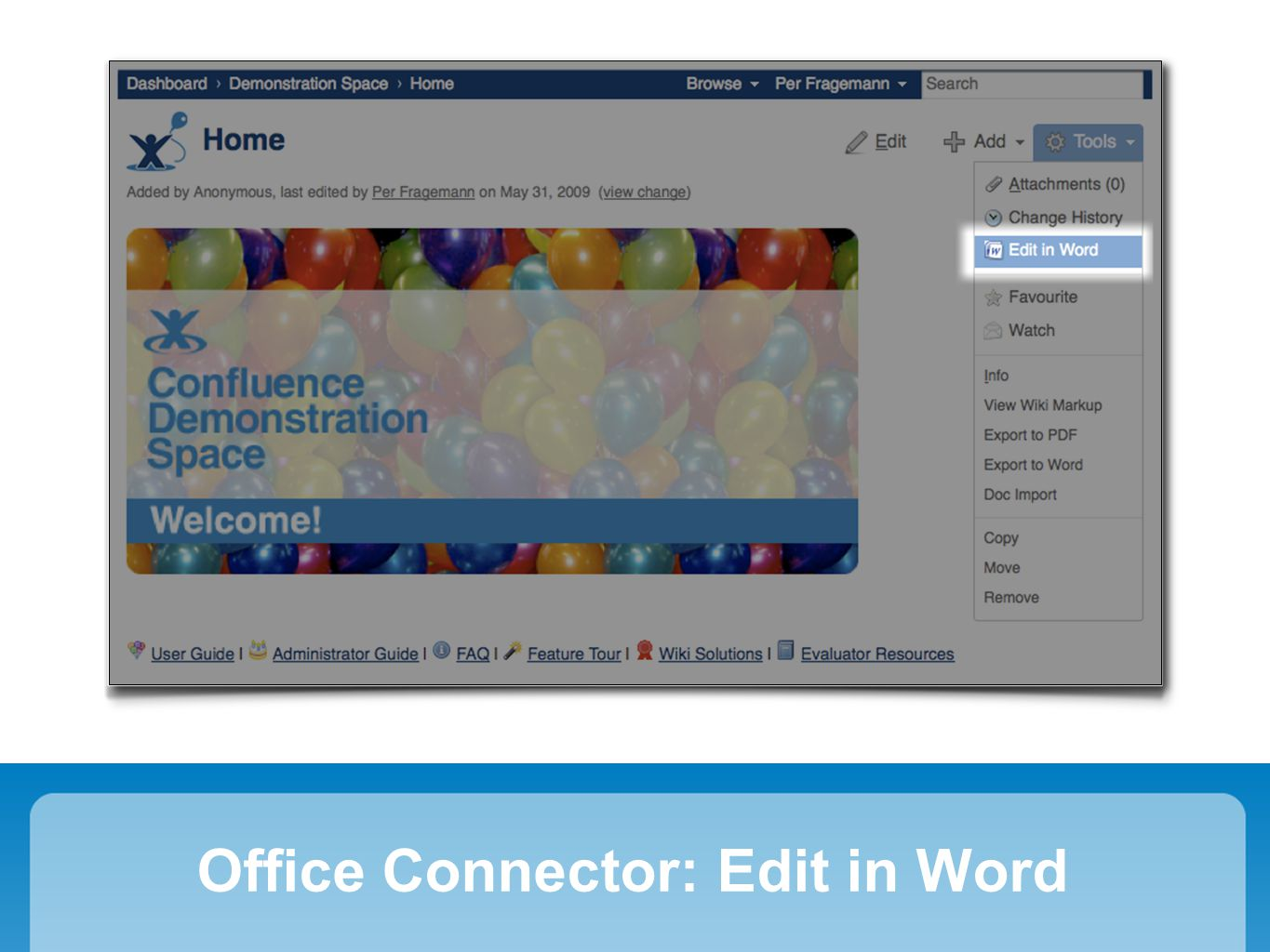 Office Connector: Edit in Word