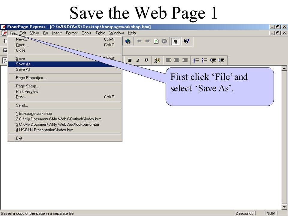 Hyperlinks to the Internet 4 Click in here and type in http://nursing.mercer.edu Click 'Ok'.