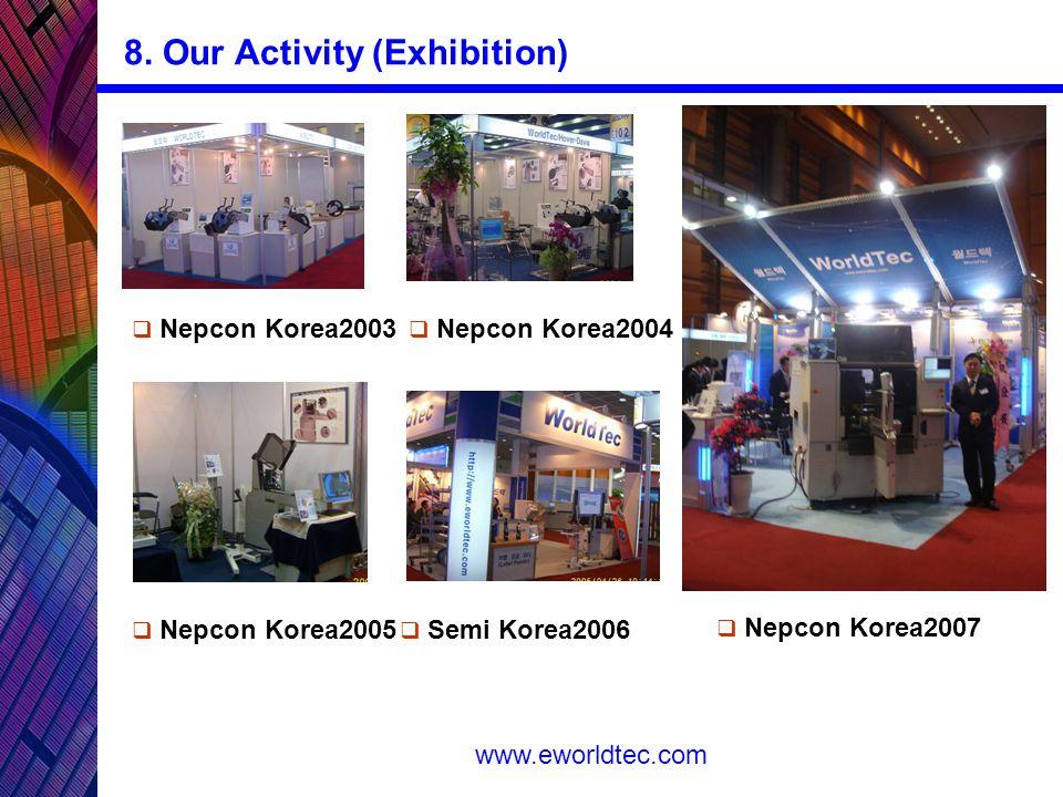 www.eworldtec.com  Nepcon Korea2003 8.