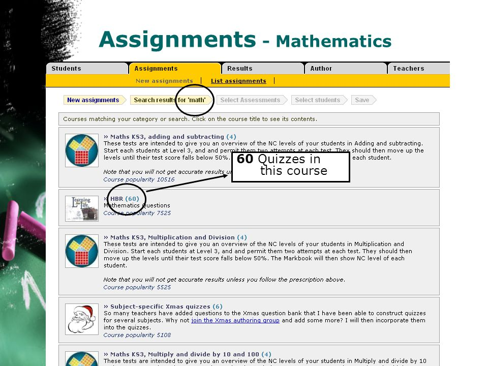 Math Assignments - Mathematics 60 Quizzes in this course