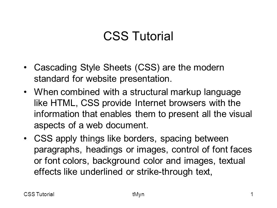 CSS TutorialtMyn32
