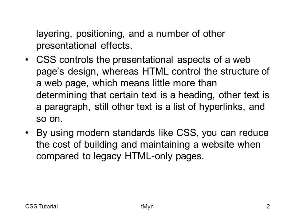 CSS TutorialtMyn33
