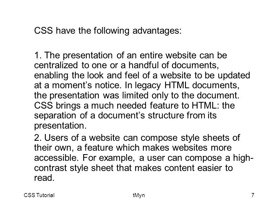 CSS TutorialtMyn8 3.