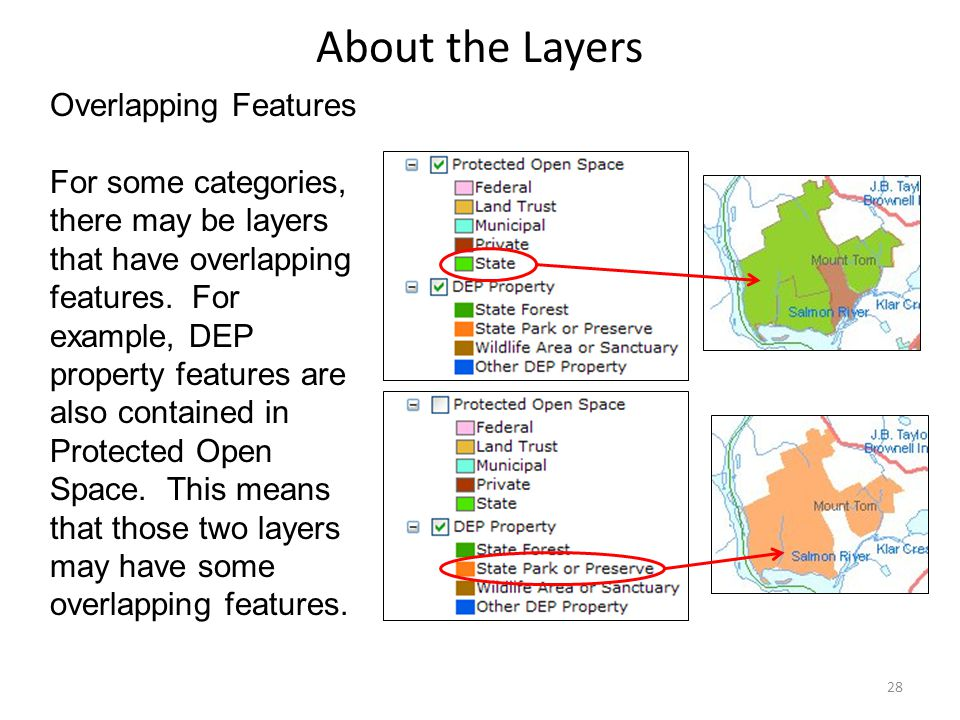 About the Layers Overlapping Features For some categories, there may be layers that have overlapping features.