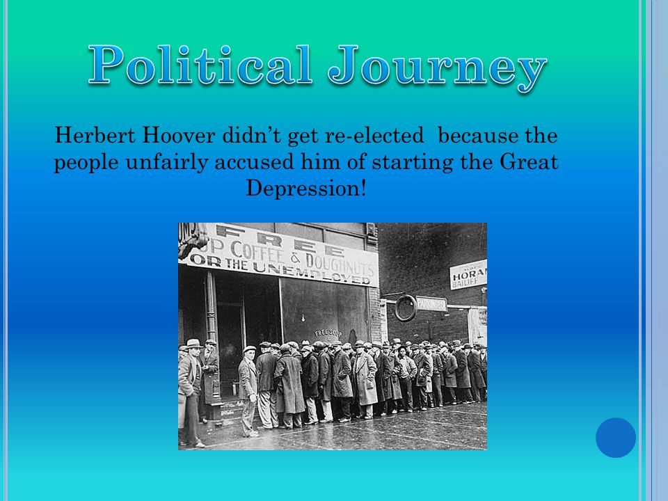 When Hoover was a young adult he was a mining engineer, scientist, Secretary of Commerce, and after his presidency, an author.