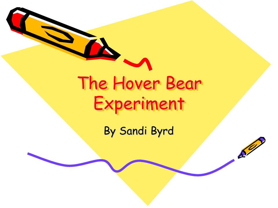 The Hover Bear Experiment By Sandi Byrd
