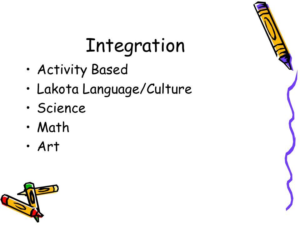 Integration Activity Based Lakota Language/Culture Science Math Art