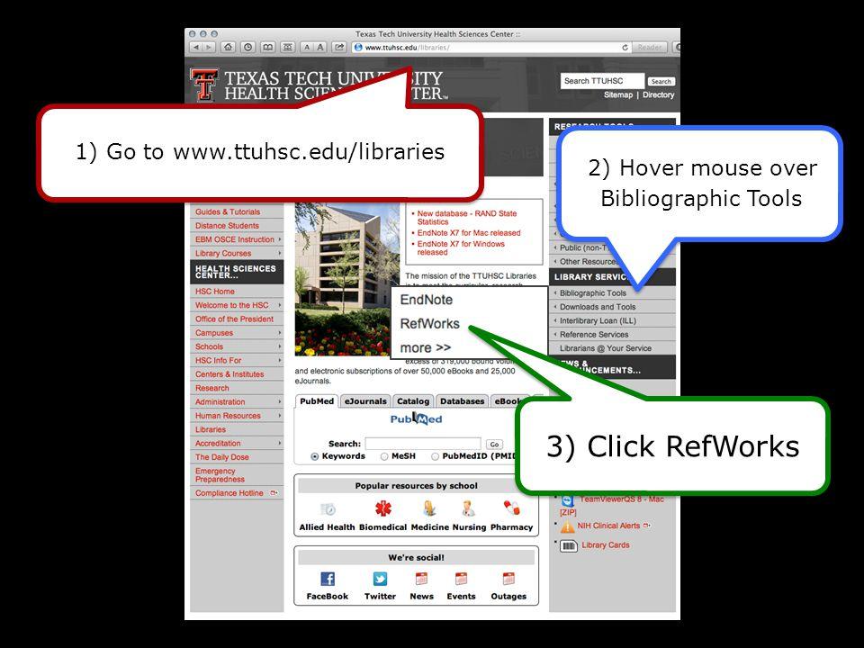Click RefWorks