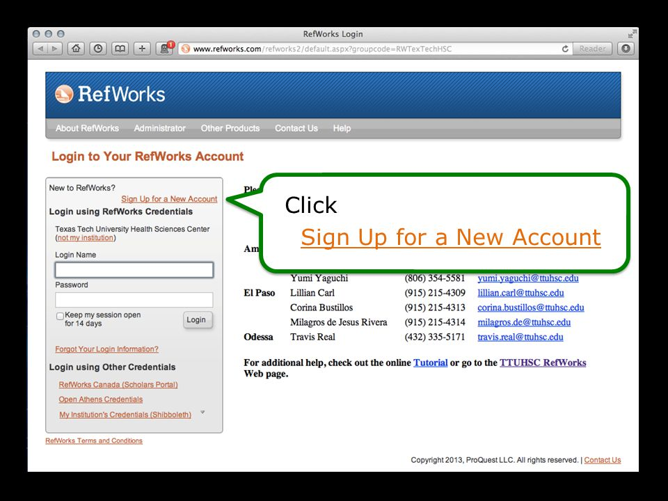 Enter User Information Complete application, to Create Account