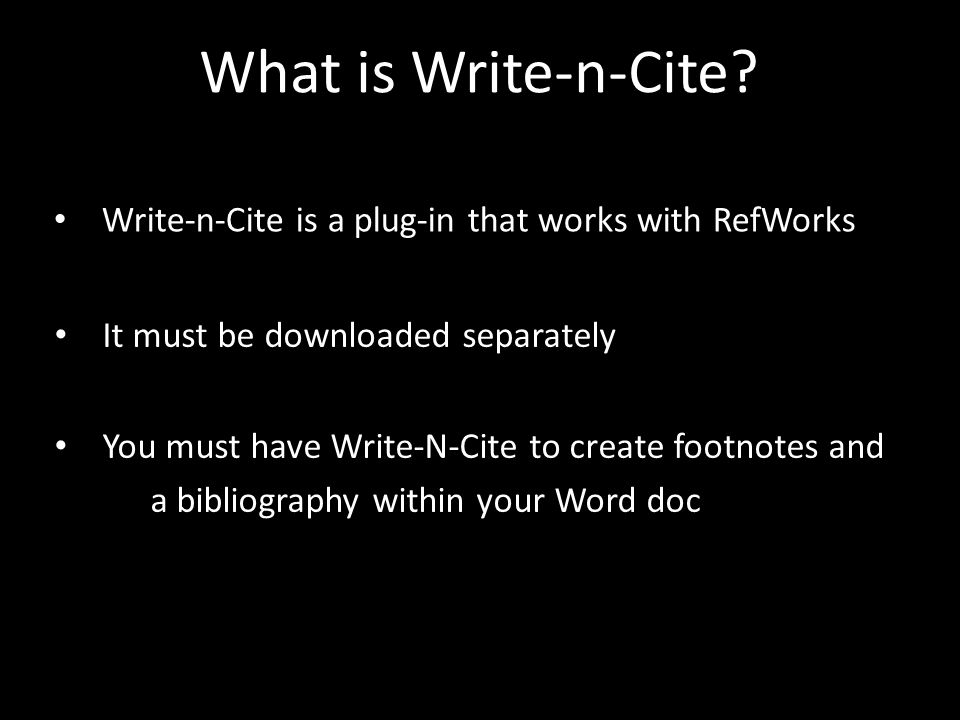What is Write-n-Cite.
