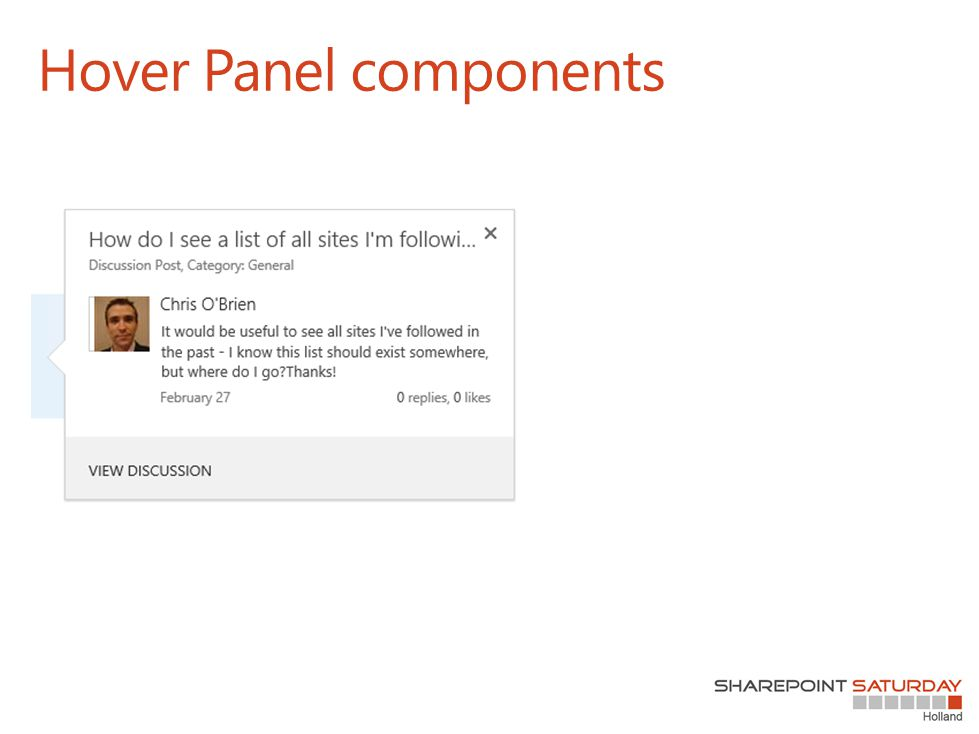 Hover Panel components