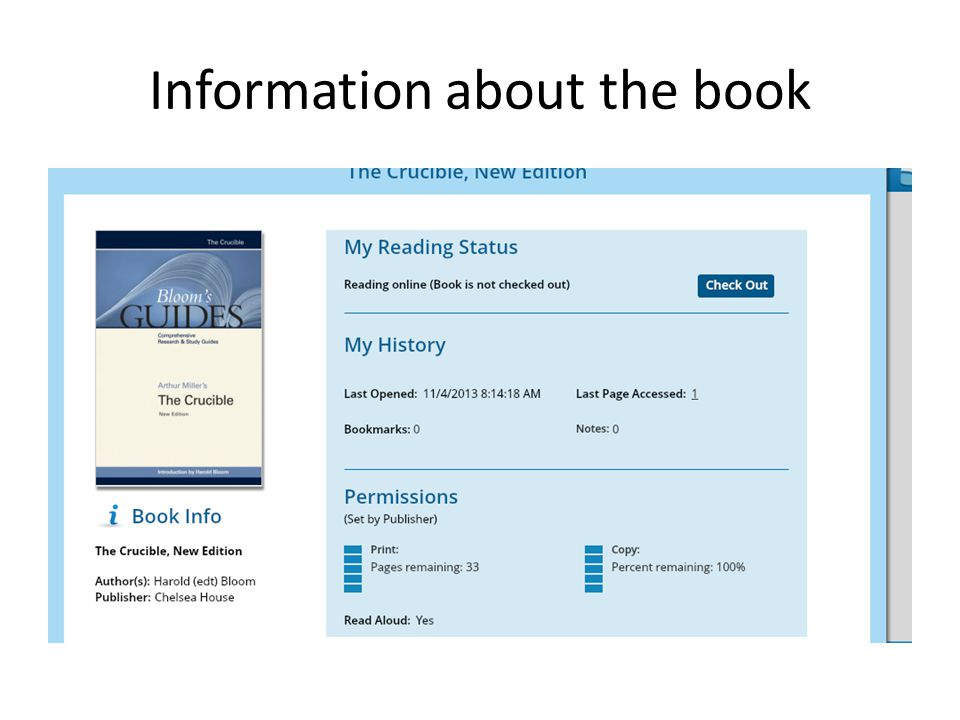 Information about the book