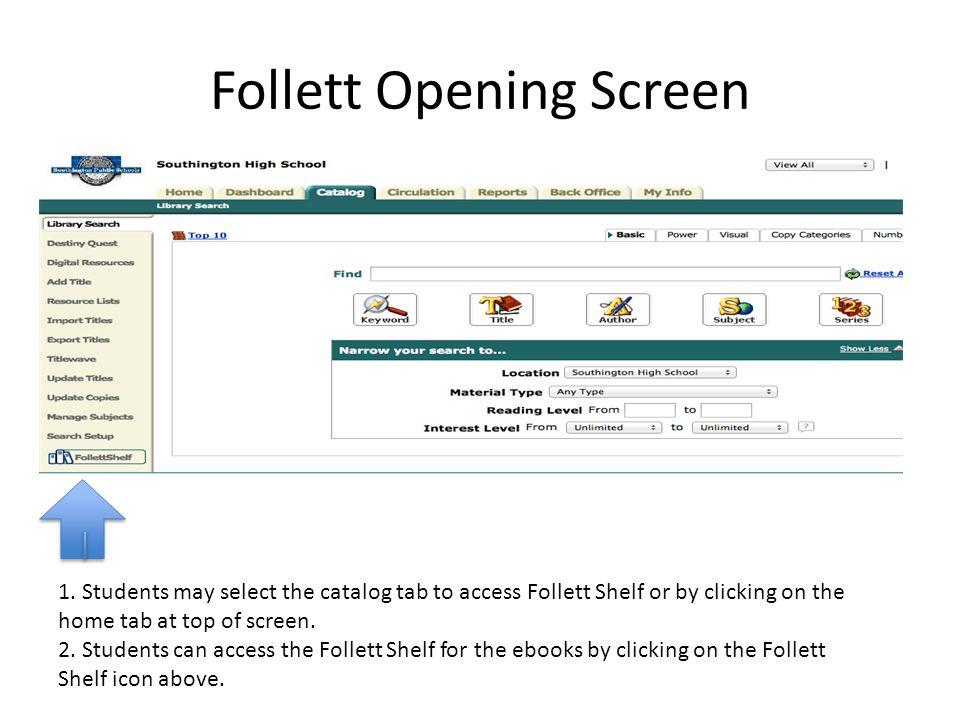 Follett Opening Screen 1.