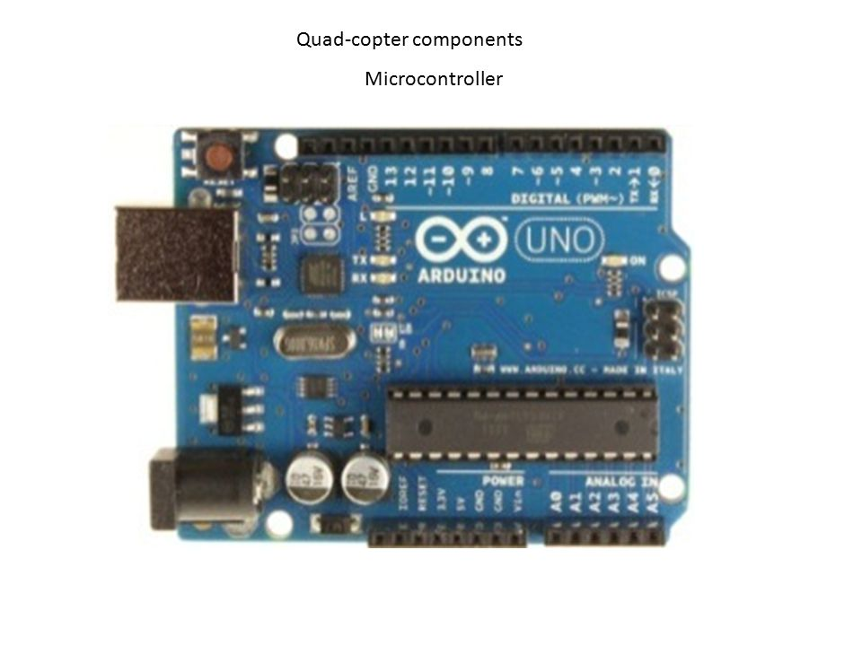 Quad-copter components Microcontroller
