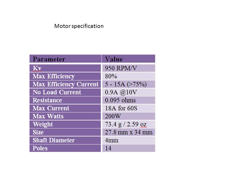 Motor specification