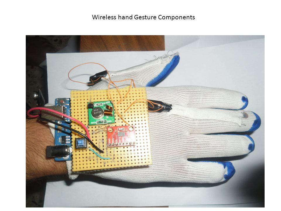 Wireless hand Gesture Components