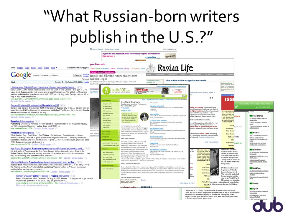 What Russian-born writers publish in the U.S.