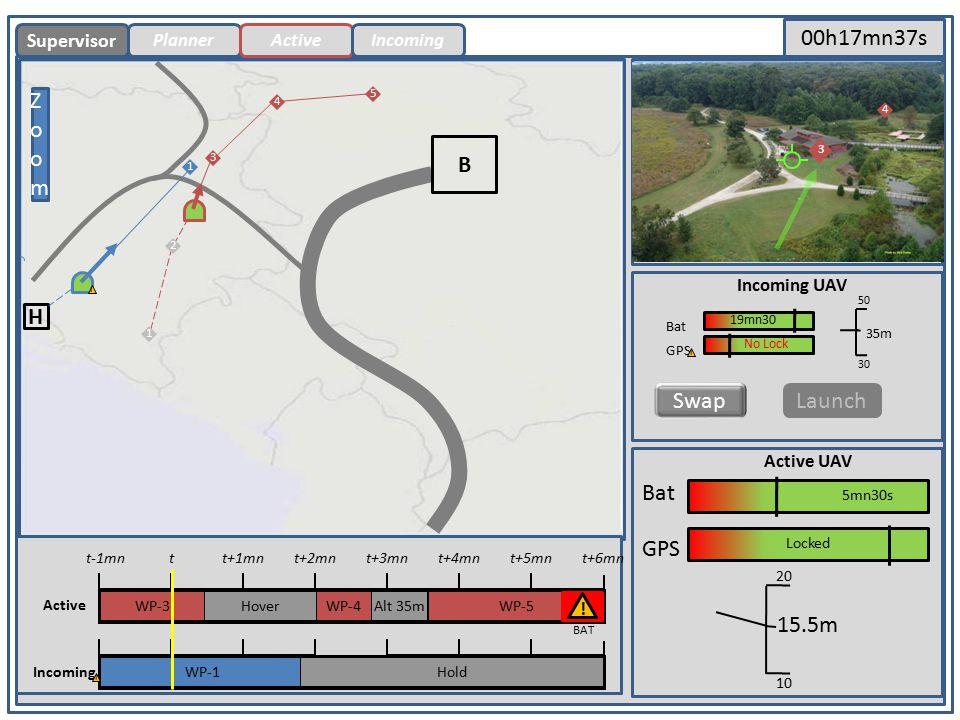ActiveIncoming Primary Screen B H ZoomZoom B Bat 5mn30s GPS Locked Supervisor 4 .