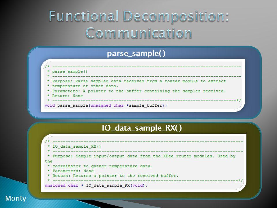 IO_data_sample_RX( ) parse_sample( ) Monty