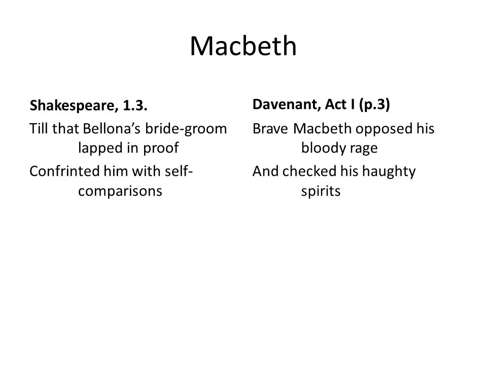 Macbeth Shakespeare, 1.3.