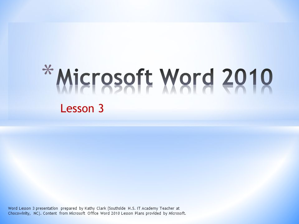 32 Word Lesson 3 presentation prepared by Kathy Clark (Southside H.S.