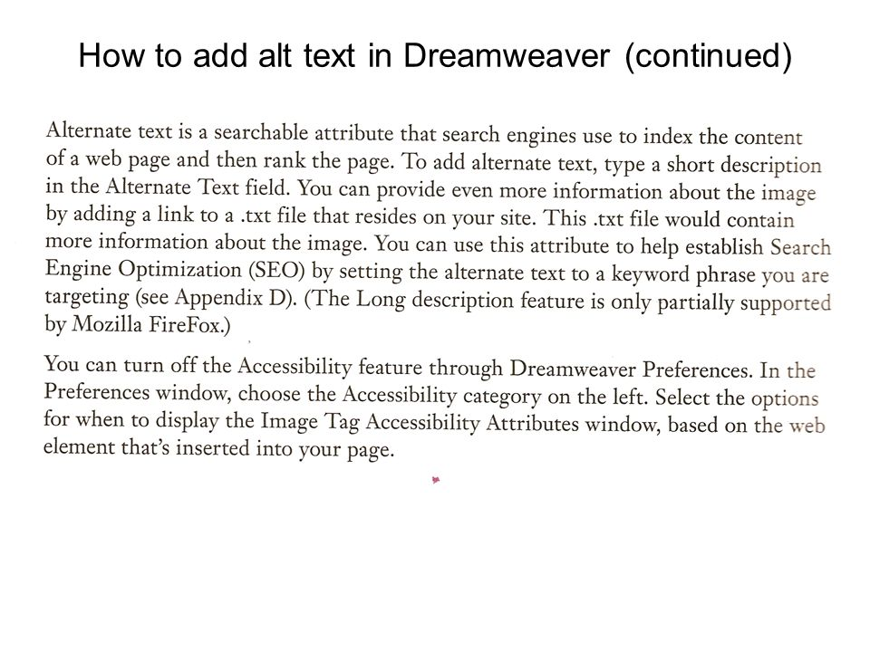Informal Survey of Books on HTML Sample size: 5 books (3 on HTML5) Number that mentioned accessibility markup (e.g., scope, headers) in chapter on tables: 0 Number that mentioned element for closed captions or descriptions in chapter on HTML5 video: 0