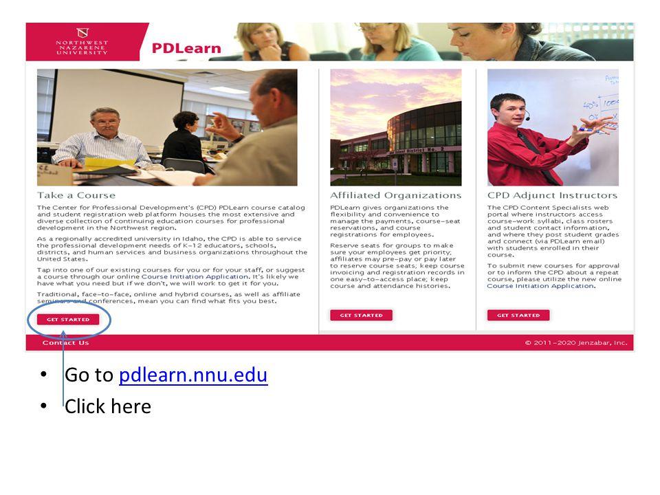 Go to pdlearn.nnu.edupdlearn.nnu.edu Click here