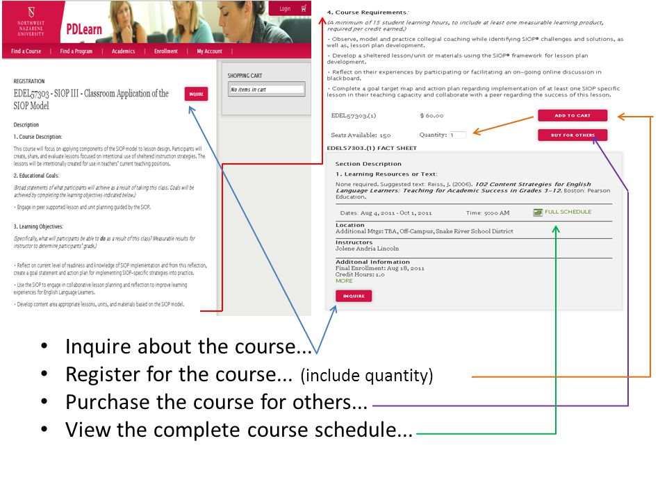 Inquire about the course... Register for the course...