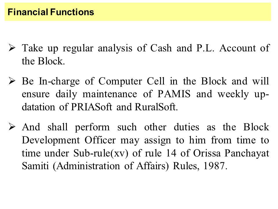 JOB CHART OF GRAM PANCHAYAT EXTENSION OFFICERS (G.P.E.O.)