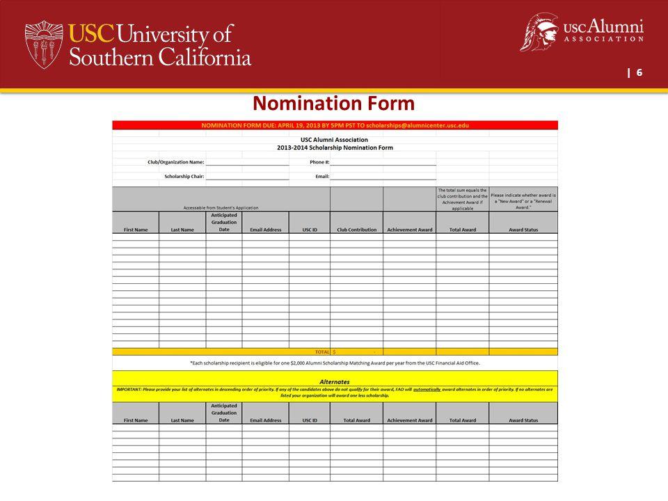 | 6 Nomination Form