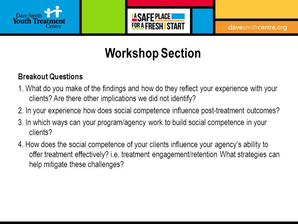 Workshop Section Breakout Questions 1.