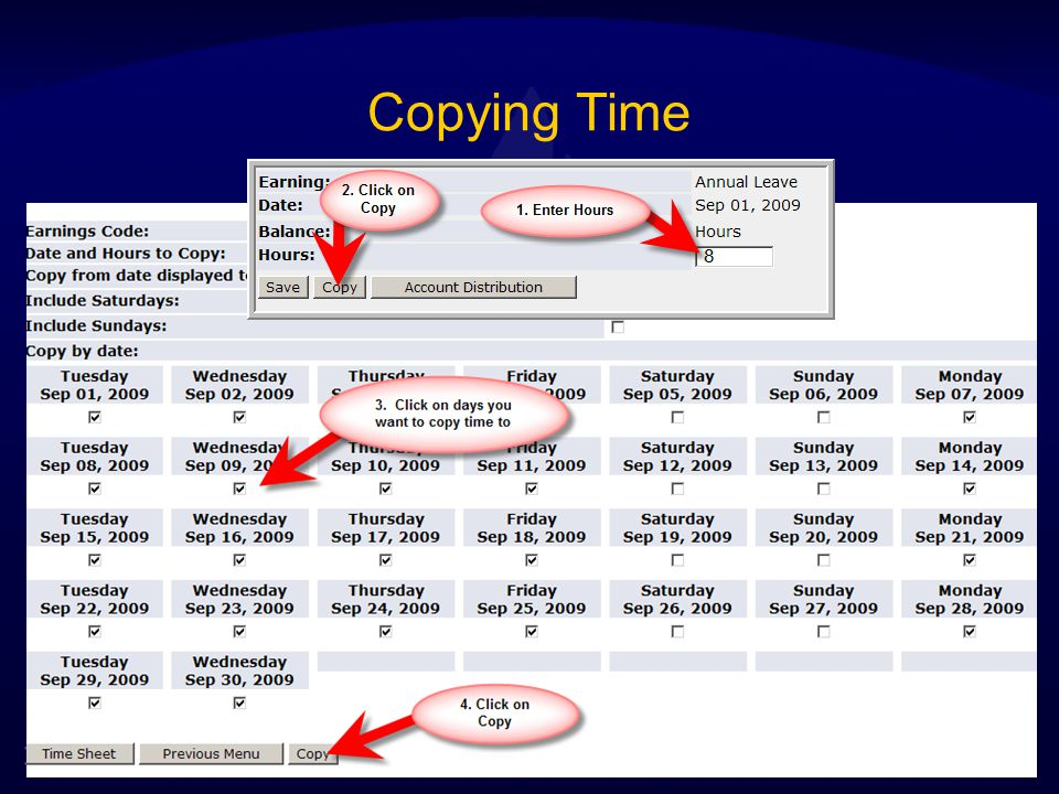 Copying Time