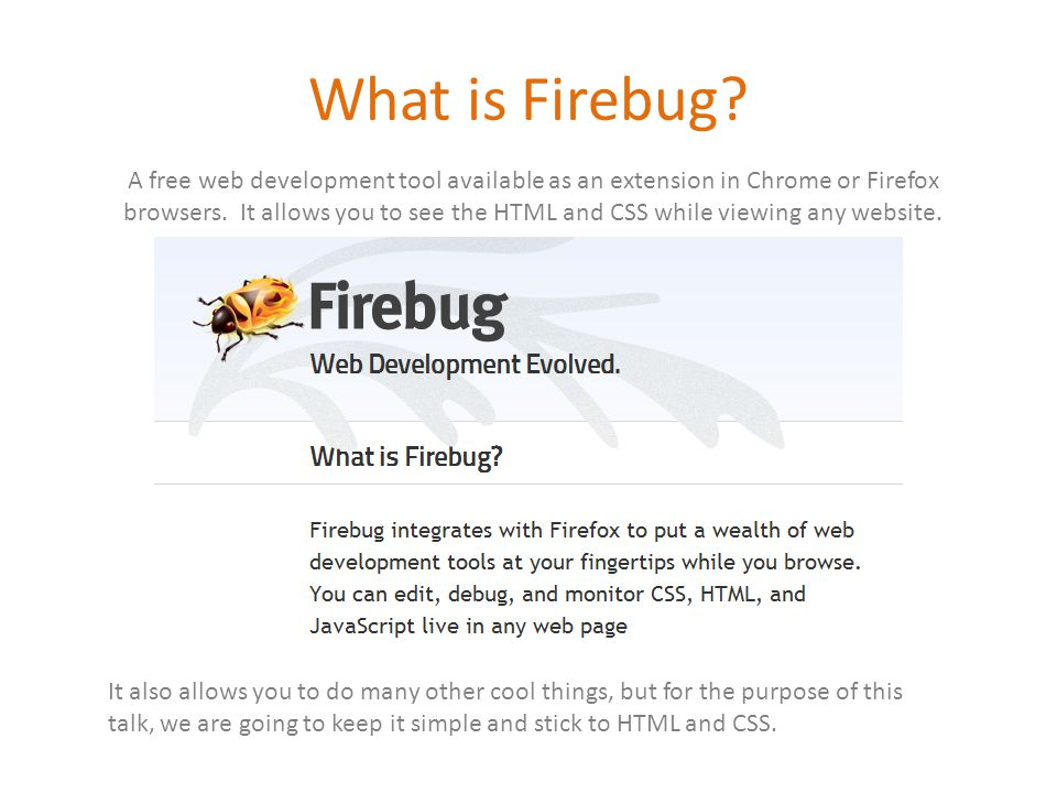 What is Firebug.
