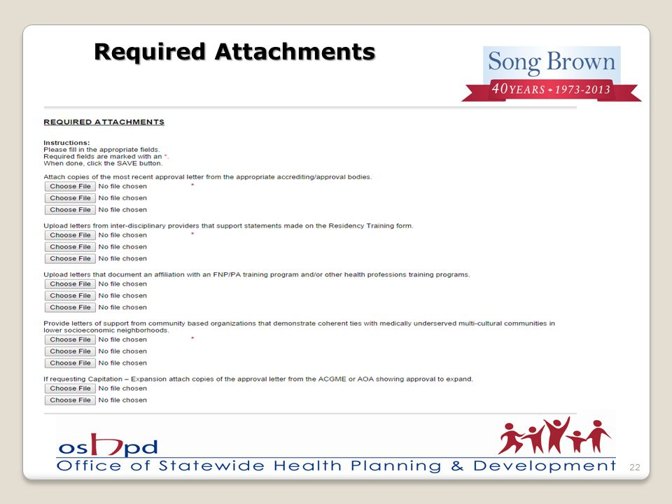 Required Attachments 22