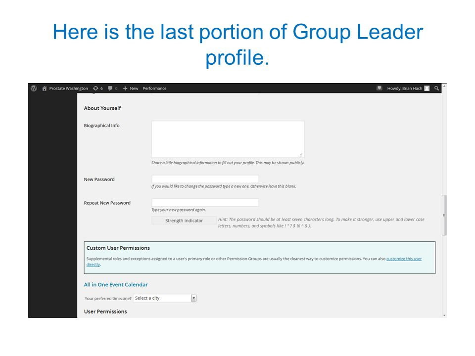 Here is the last portion of Group Leader profile.