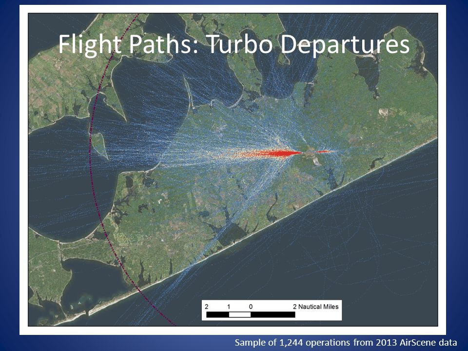 Flight Paths: Turbo Departures Sample of 1,244 operations from 2013 AirScene data