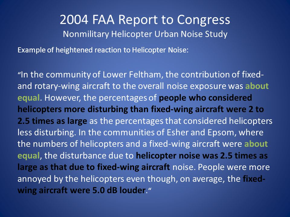 2013 Average Busiest Day Noise: All Helicopters 45 dBA DNL FAA Integrated Noise Model Output *Average busiest day defined as the average number of daily operations between August 23-26, 2013 50 dBA DNL 55 dBA DNL