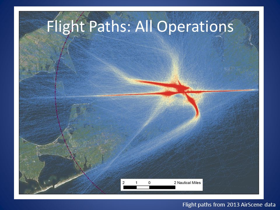 Flight Paths: All Arrivals Flight paths from 2013 AirScene data
