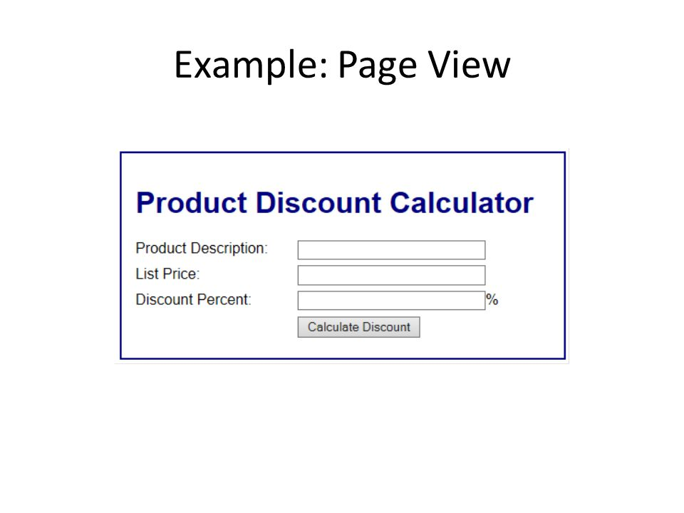 Example: Page View
