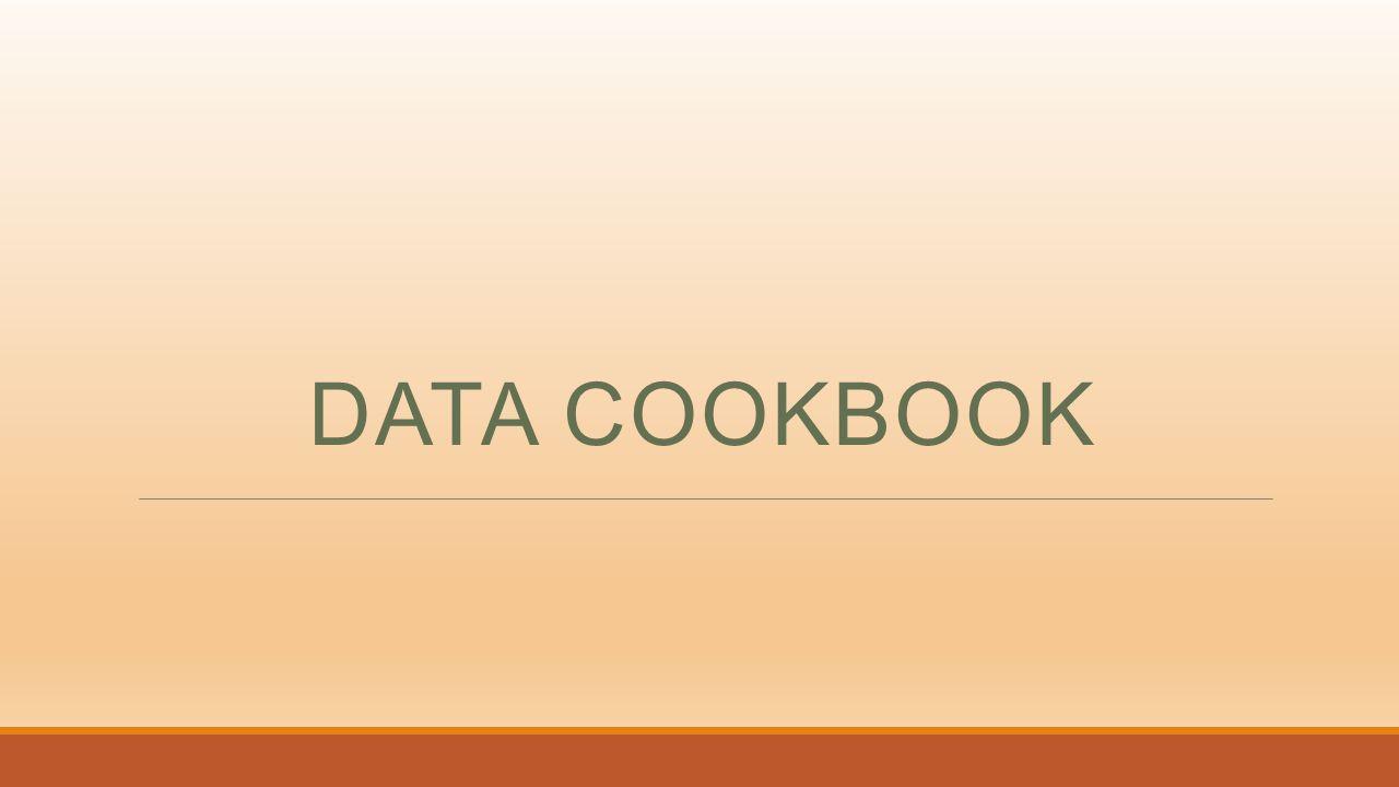 DATA COOKBOOK