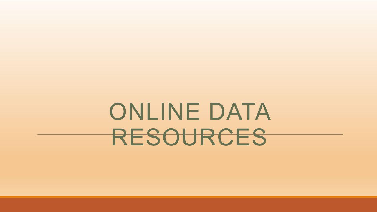 ONLINE DATA RESOURCES