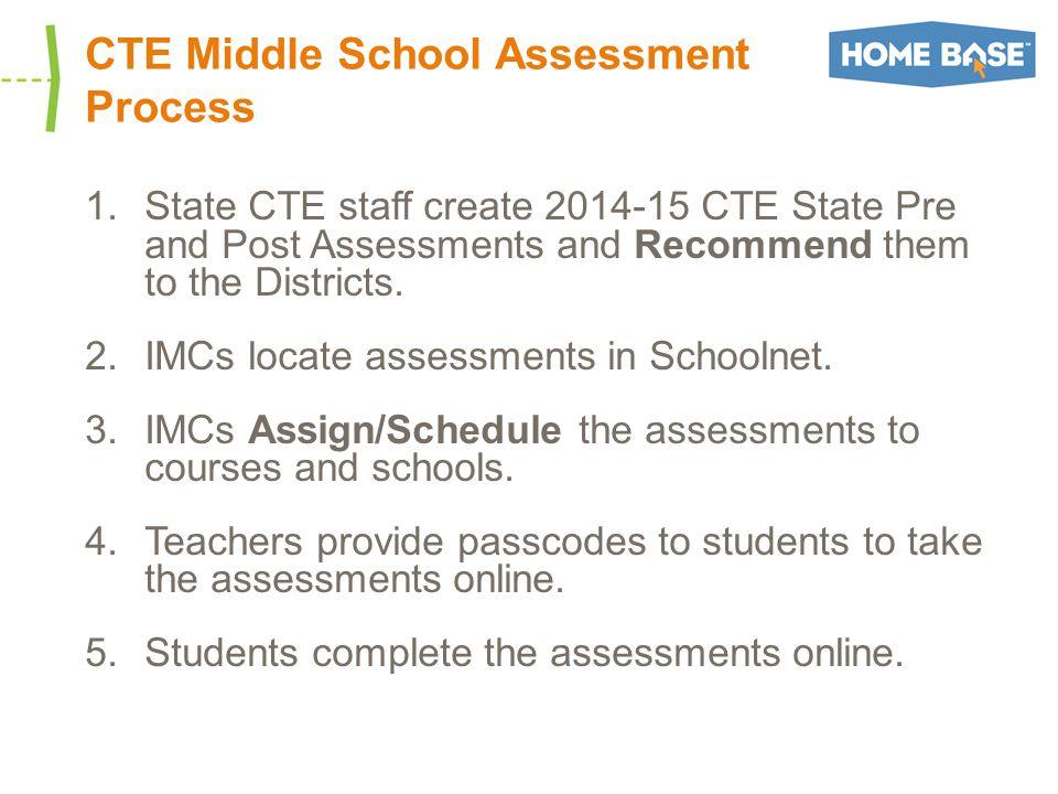 Scheduling Assessments On the Test Details Screen, Click Schedule Information Under Schedule Information, click on Edit Schedule and Settings