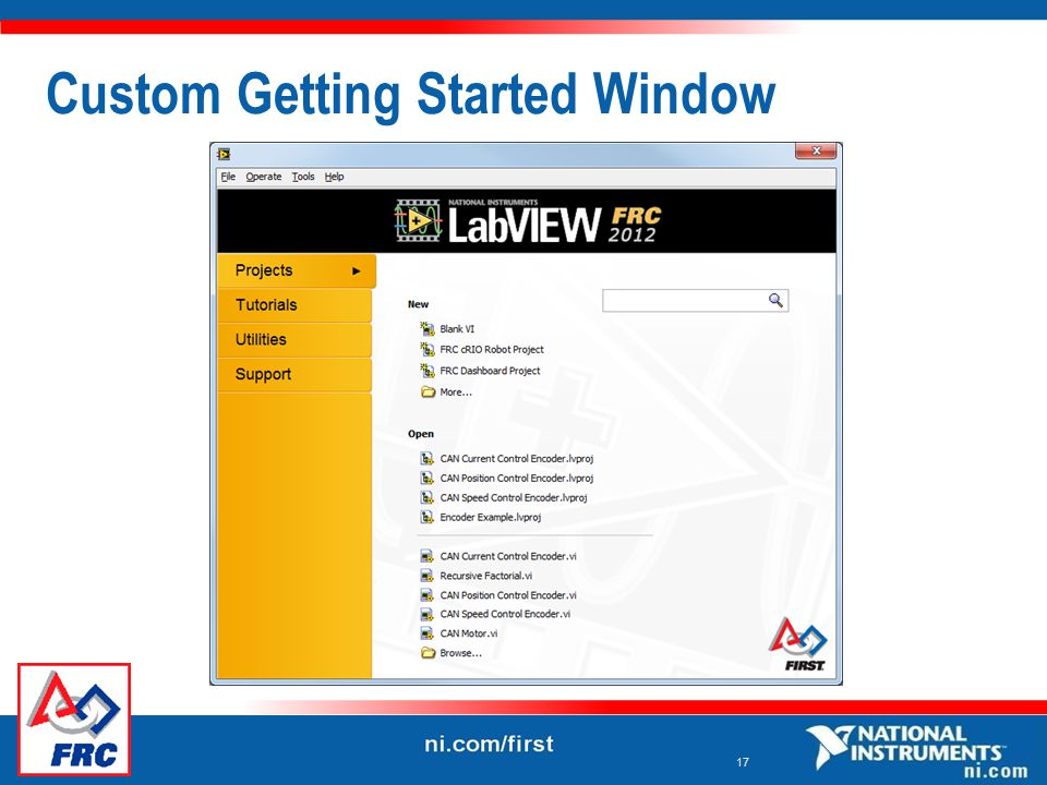 17 Custom Getting Started Window
