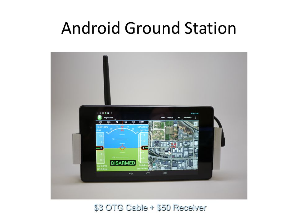 Android Ground Station $3 OTG Cable + $50 Receiver