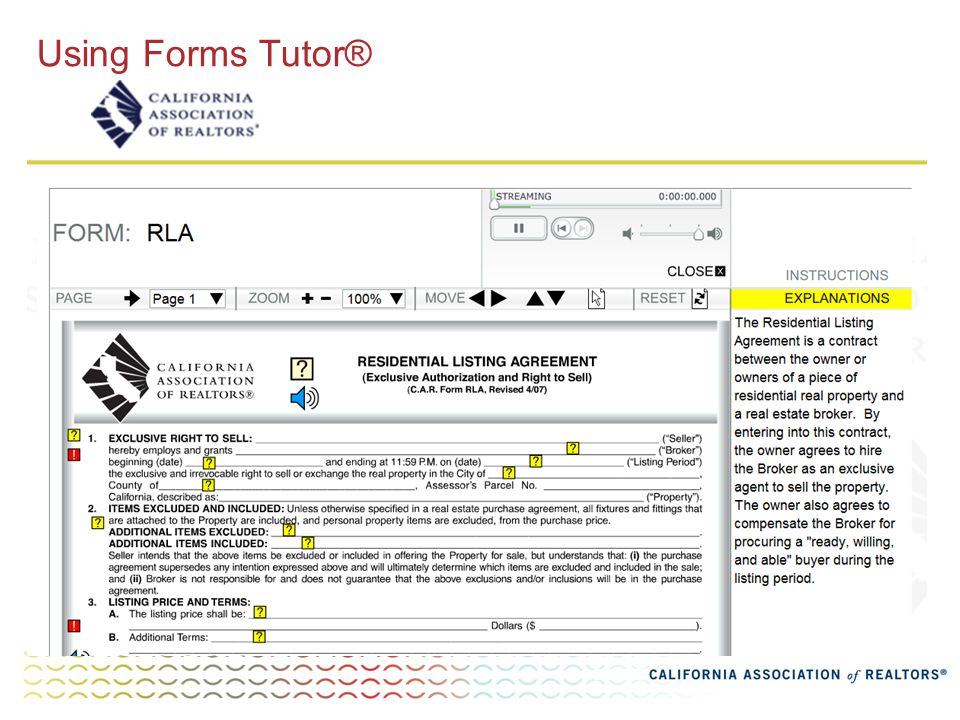 Using Forms Tutor®