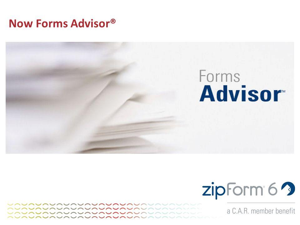 Now Forms Advisor®